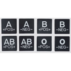 Bloedgroep Rubber Patches...